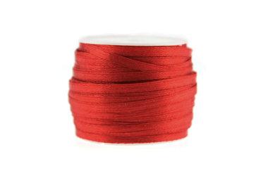 10 meter Satijn lint 3 mm Rood