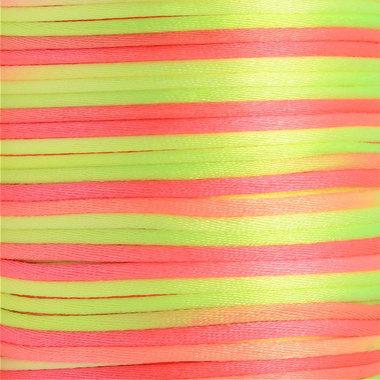Satijnkoord 2 mm geel oranje tinten verloop