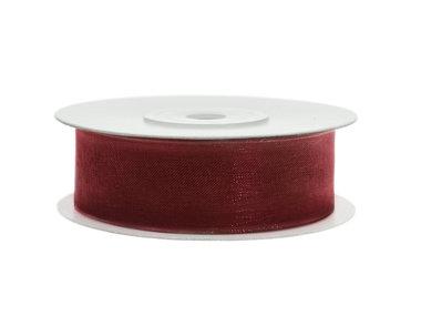 Bordeaux rood organza lint 2 cm breed