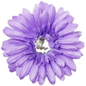Haarclip gerbera lavendel