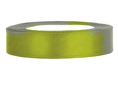 Satijn lint 1.5 cm breed olijf groen