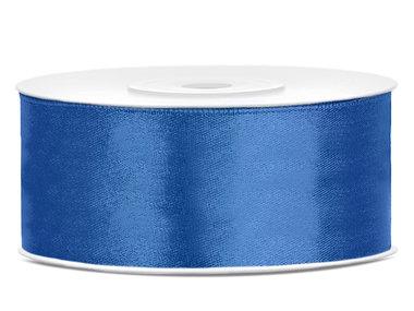 Satijn lint 2.5 cm breed blauw
