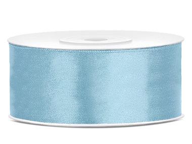Satijn lint 2.5 cm breed licht blauw