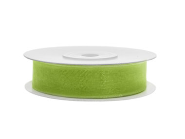 Organza lint 12 mm lime groen