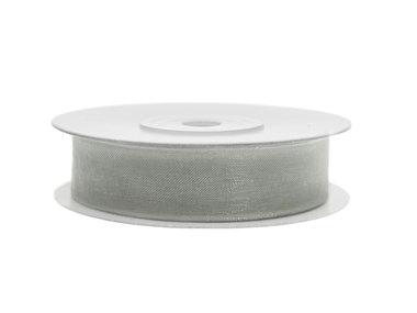 Organza lint 12 mm breed zilver