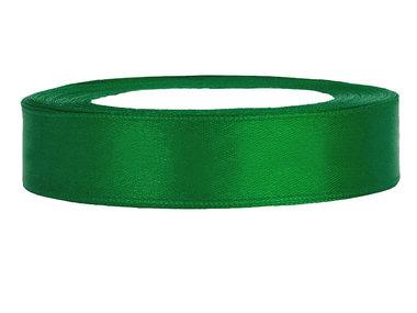 Satijn lint 1 cm groen