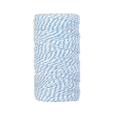 Bakkerstouw licht blauw wit 90 meter
