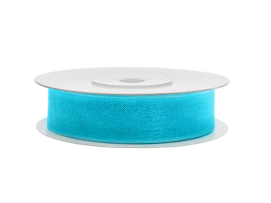 Organza lint 15 mm breed aqua