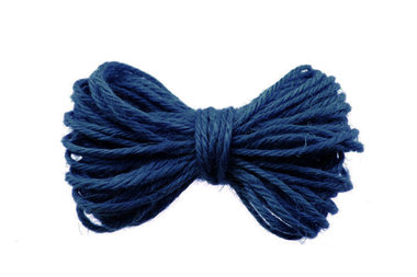 10 meter Hennep touw blauw