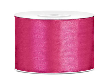 Satijn lint 50 mm Fuchsia