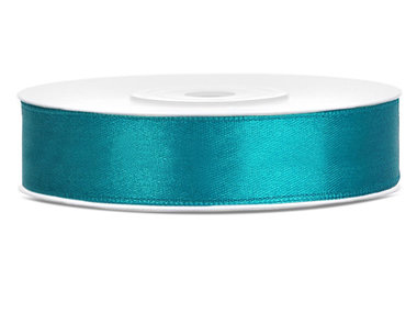 Satijn lint 12 mm Aqua