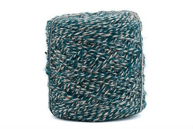 Flaxcord twisted aqua 3.5 mm dik 10 meter