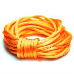 Satijnkoord 2 mm fel oranje
