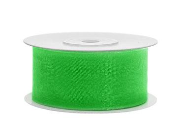 Organza lint 38 mm groen 25 meter rol
