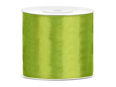 Satijn lint 75 mm lime groen