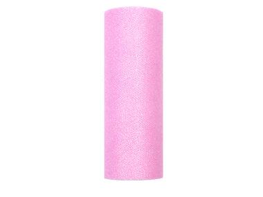 15 cm Tule lint roze glitter