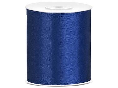 Satijn lint 100 mm blauw