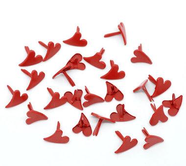10 splitpennen hartje rood