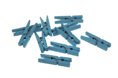 10 Wasknijpertje Licht blauw 3 cm