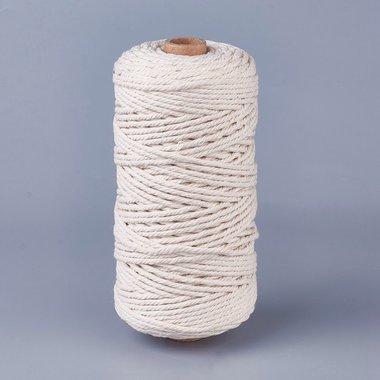 Macramé touw 3 mm 100 meter spoel