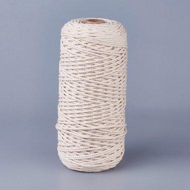 Macramé touw 2 mm 200 meter spoel