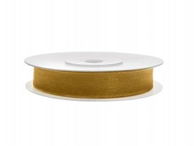 Organza lint 6 mm Goud