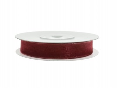 Organza lint 6 mm Bordeaux rood