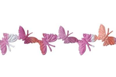 Vlinder lint Roze-Oranje