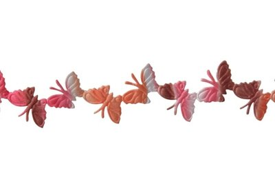Vlinder lint Roze-Oranje-Wit-Bruin