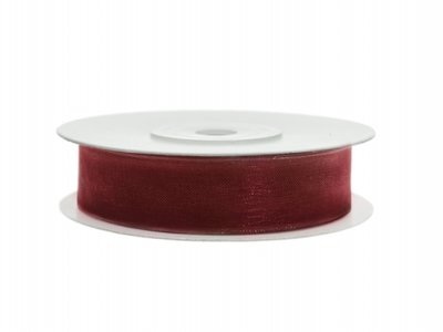 Organza lint 12 mm Bordeaux rood