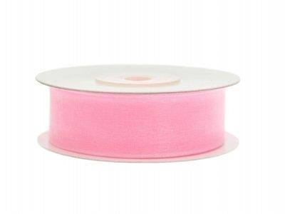 Organza lint 19 mm Roze