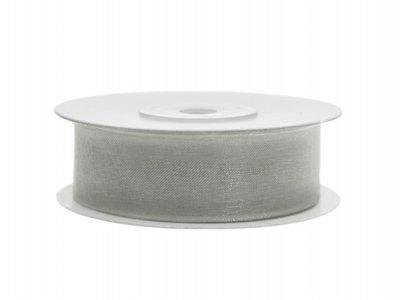 Organza lint 19 mm Zilver