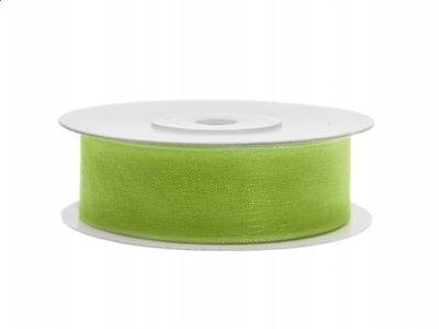 Lime groen organza lint 2 cm breed