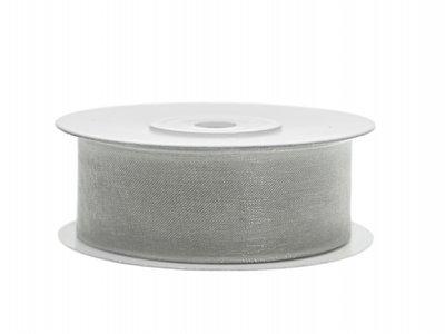 Organza lint 25 mm Zilver