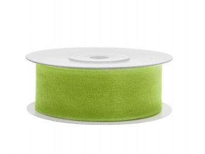 Organza lint 25 mm Lime groen