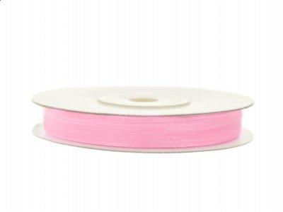 Organza lint 3 mm Roze