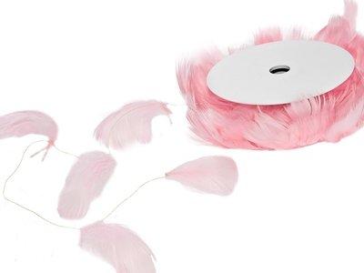 Draad met veren roze