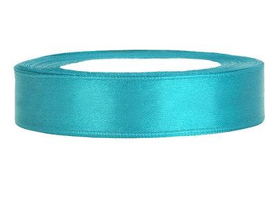 Satijn lint 2 cm breed Aqua