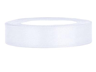 Satijn lint 1 cm Wit