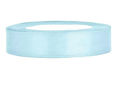 Satijn lint 1.5 cm breed licht blauw