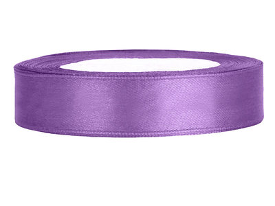 Satijn lint 1.5 cm breed paars