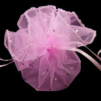 Organza buidel Roze met stipje