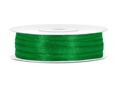 50 meter satijn lint 3 mm groen
