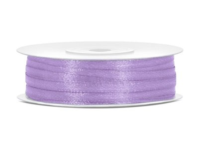 50 meter satijn lint 3 mm lavendel