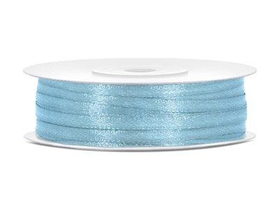 50 meter satijn lint 3 mm licht blauw