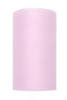 8 cm Tule lint Roze
