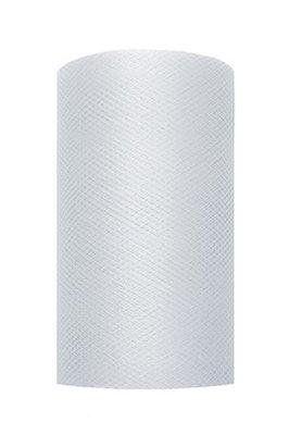 8 cm Tule lint Licht zilver
