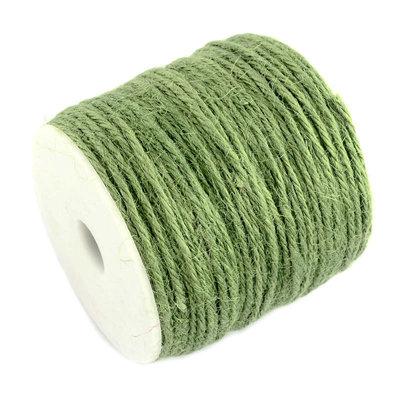 100 meter Hennep touw groen