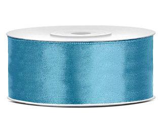 Dubbelzijdig satijn lint 25 mm Vintage blauw