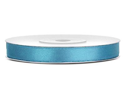 Dubbelzijdig satijn lint 6 mm Vintage blauw